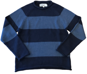 Mollusk STRIPED FISHERMAN SWEATER INDIGO Men's