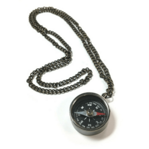 Sugarboo & Co. Engraved Compass Necklace Jewelry
