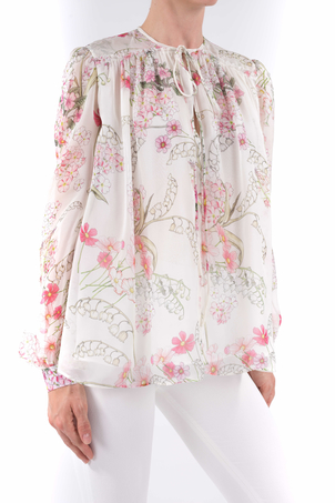 Giambattista Valli Floral Blouse Tops