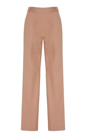 Sally LaPointe Stretch Cotton Twill Skinny Pant Blush Pants