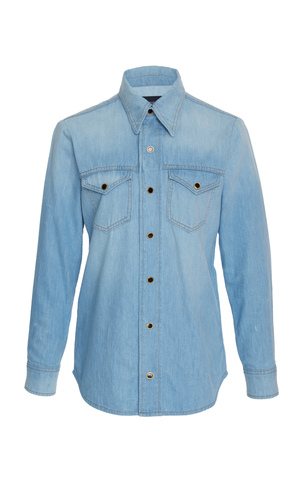 Khaite Sara Denim Shirt Tops