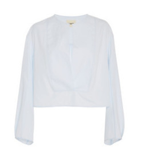Khaite Dorothy Poplin Top White Tops