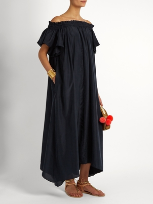 Loup Charmant Hydra Dress Midnight Silk Dresses