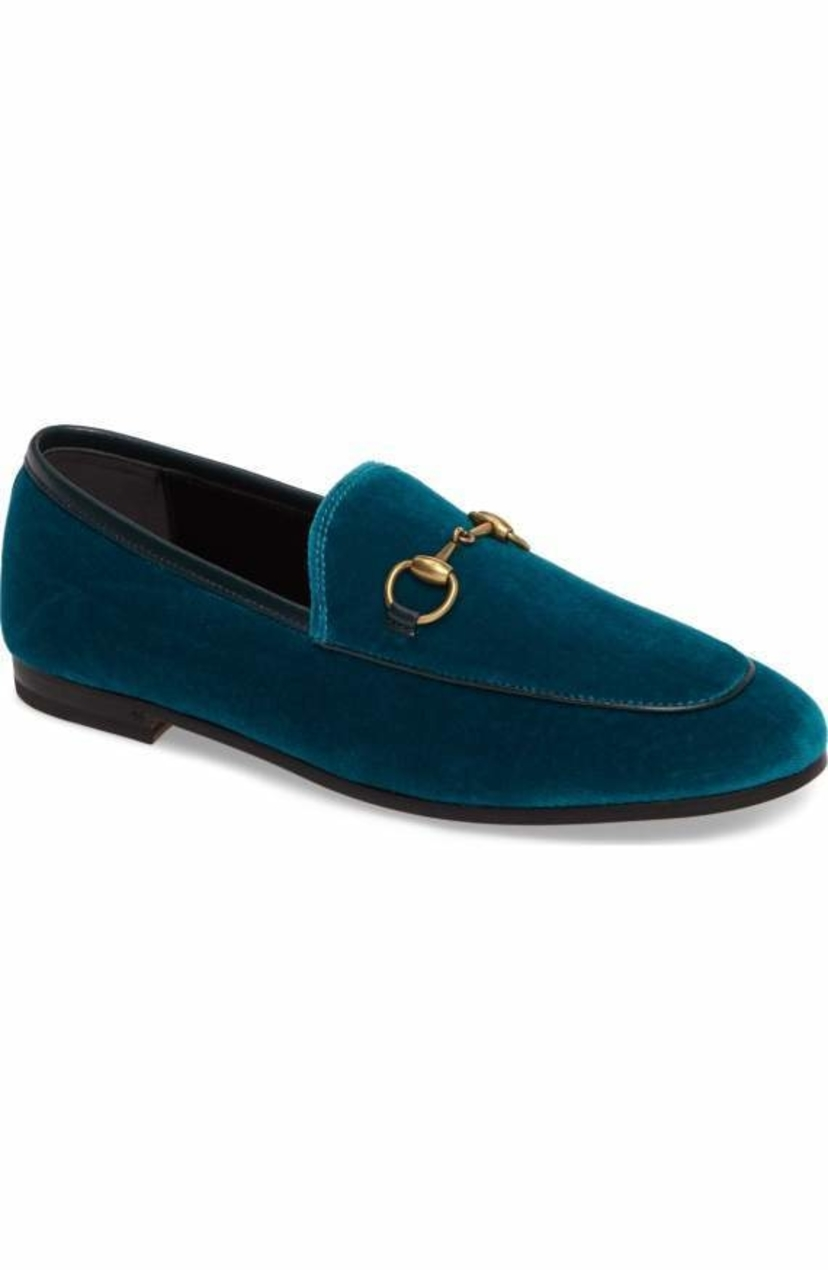 Gucci Gucci Brixton Velvet Loafer Shoes