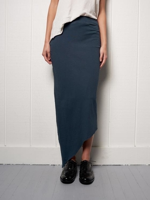 Tee Lab by Frank & Eileen Asymmetrical Long Skirt in Navy Skirts