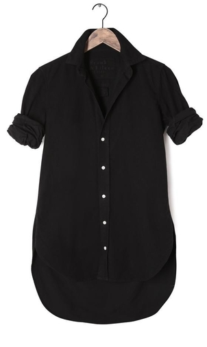 Frank & Eileen Grayson Button Down in Black Tops