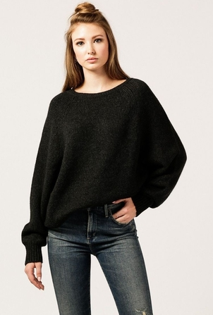 Nili Lotan Charcoal Casper Sweater Sale Tops