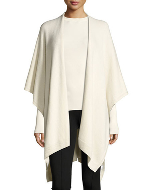 The Row Hern Cashmere Cape Ivory Tops