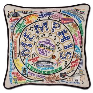 Memphis Hand Embroidered Pillow Gifts Home decor