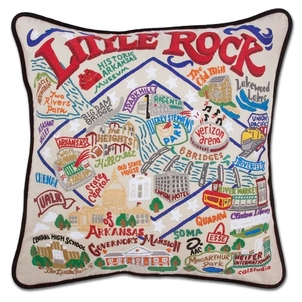 Little Rock Embroidered Pillow Gifts Home decor