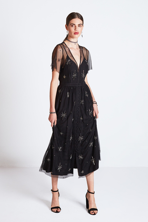 Chan Luu Nora Mesh Button Front Dress with Stars SOLD OUT Dresses