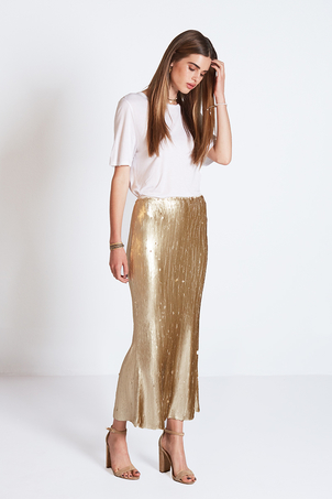 Chan Luu Matte Sequin Laura Ankle Skirt (more colors)