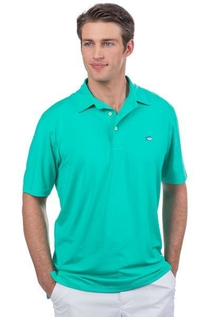 Southern Tide Driver Performance Polo in Tropical Palm Tops