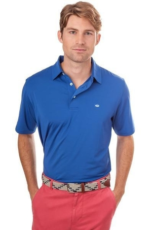 Southern Tide Driver Performance Polo in Blue Cove Tops