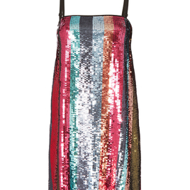 Erykah Sequin Stripe Dress