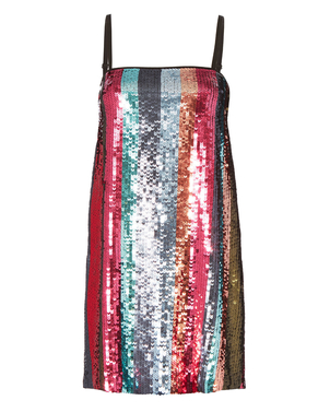Tanya Taylor Erykah Sequin Stripe Dress Dresses