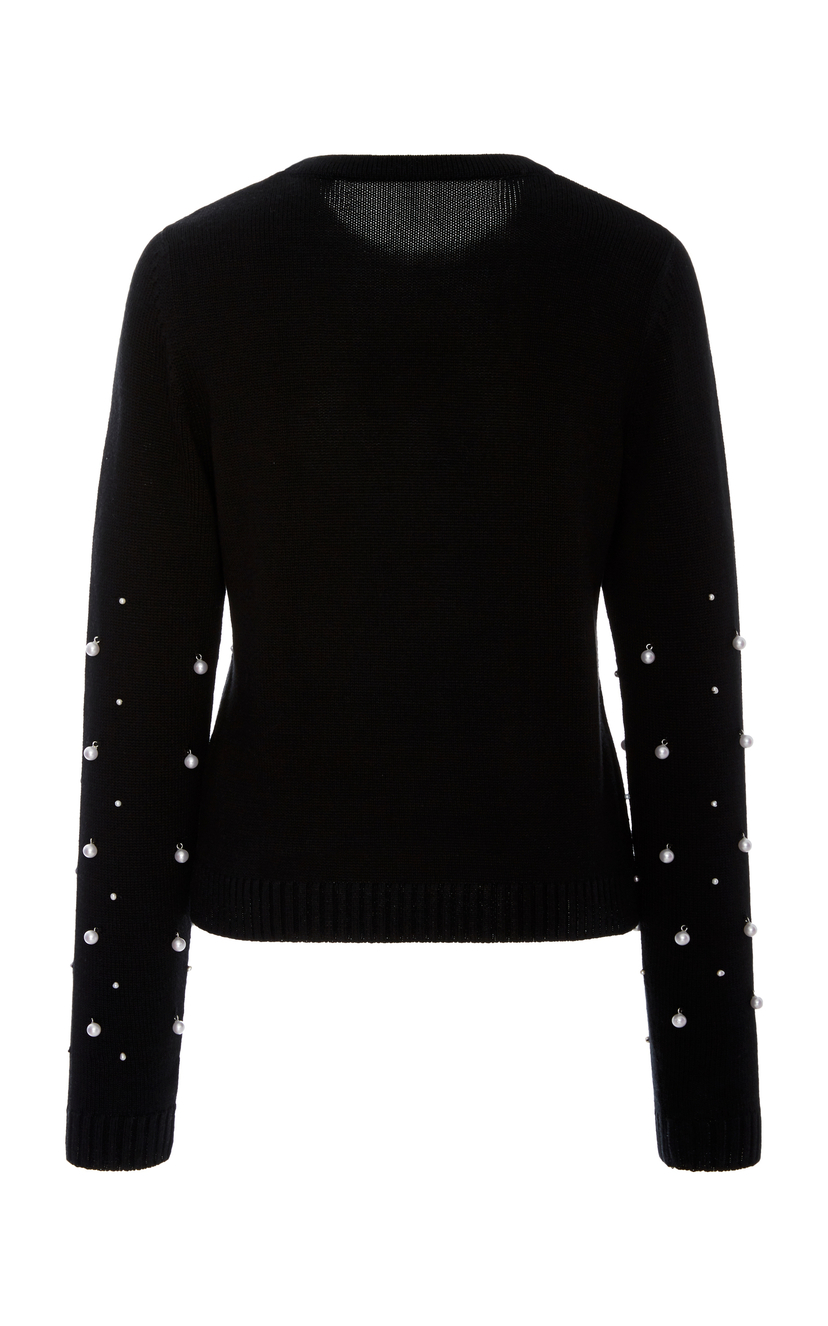 Prabal Gurung Pearl Embroidered Sweater Tops