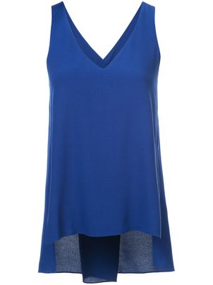 Rosetta Getty Twist Back Tank Lapis Tops