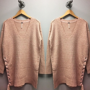 Free People Side Tie Up Sweater Tops