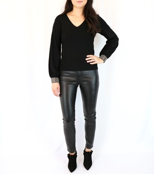 Milly Gem Cuff Pullover Tops