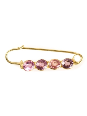 Marie-Hélène de Taillac Spinel Safety Pin Jewelry