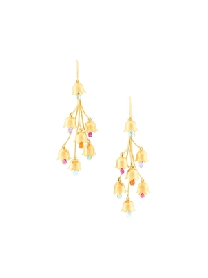 Marie-Hélène de Taillac 22Kt Yellow Gold Chandelier Lily of the Valley Earrings Jewelry