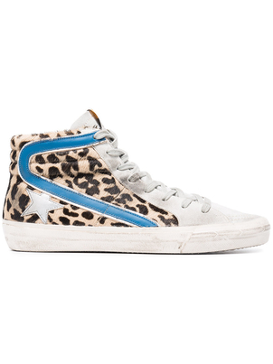 Golden Goose Deluxe Brand Slide Sneaker Ice Leopard Spot Shoes