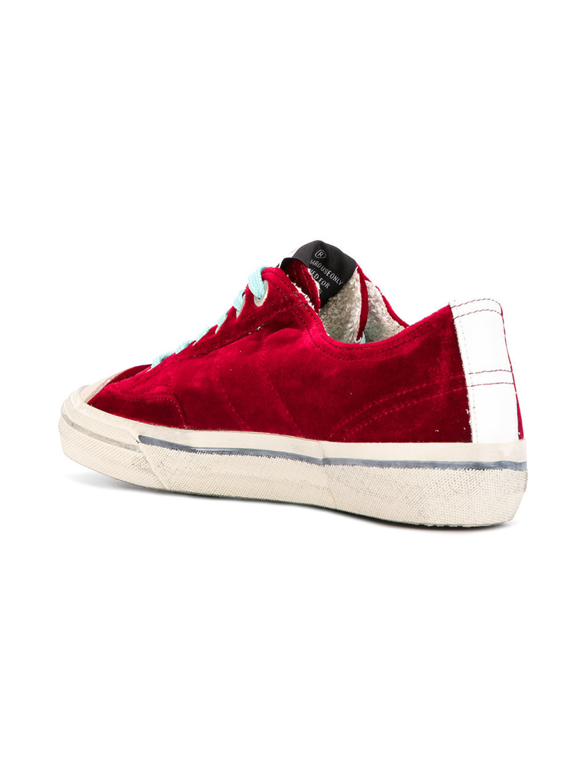 Golden Goose Deluxe Brand V-Star 2 Sneaker Red Velvet Shoes