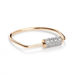 Ginette NY Mini Straw Diamond Ring Jewelry