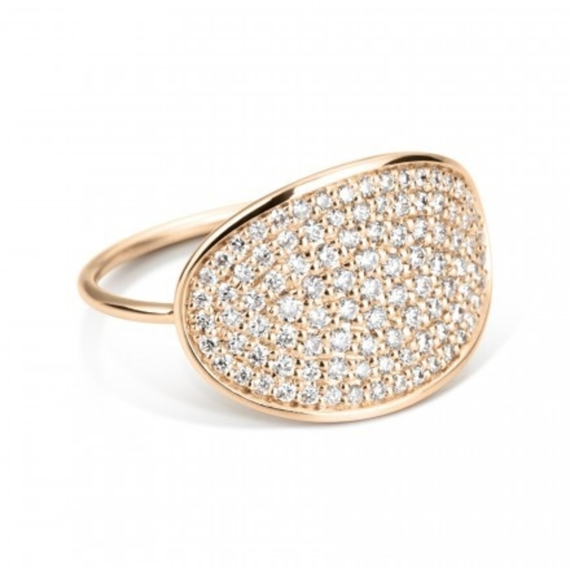 Ginette NY Large Sequin Diamond Ring Jewelry