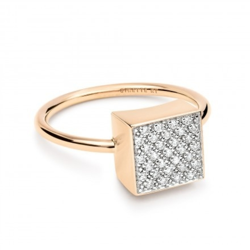 Ginette NY Diamond Ever Square Ring Jewelry