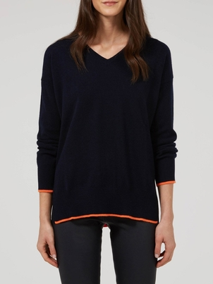 Wyse London Olive V Neck Sweater Tops