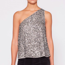 Hedra One Shoulder Sequin Top
