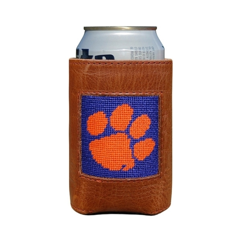 Smathers & Branson Clemson Needlepoint Can Cooler