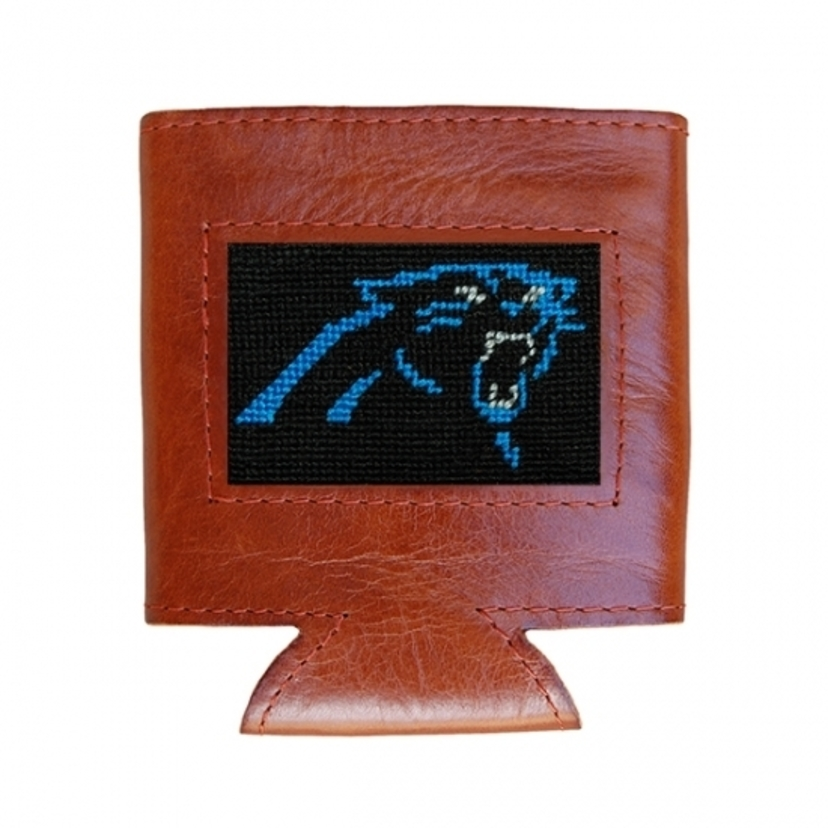 Smathers & Branson Carolina Panthers Needlepoint Can Cooler