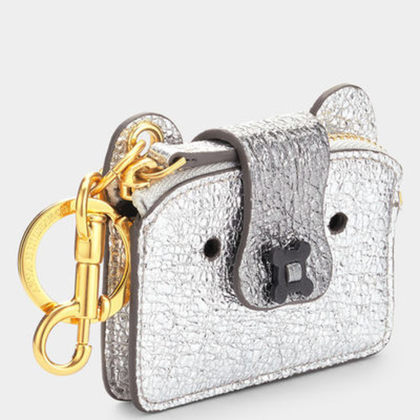 Anya Hindmarch Husky Coin Purse Silver Accessories