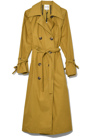 Sea Classic Throw Back Trench in Tobacco Outerwear