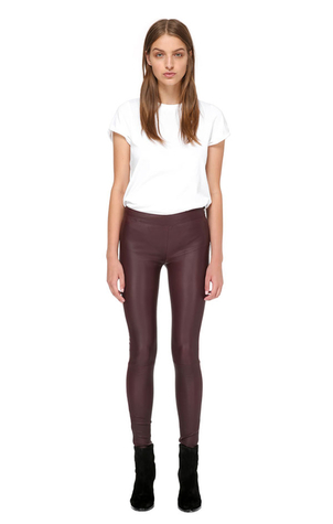 Mackage Navi Y Stretch Leather Legging Red Pants