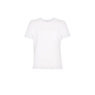 FRAME Slouchy Crew Tee in White Tops
