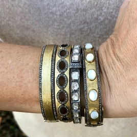 Brass and Diamond Bangle Collection