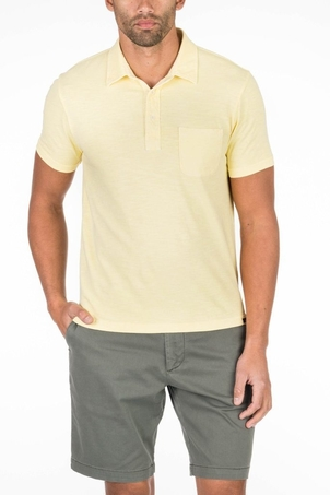 Faherty Brand Garment Dyed Polo in Yellow Tops