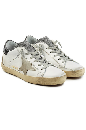 Golden Goose Deluxe Brand Superstar Leather with Swarovski Crystals Shoes