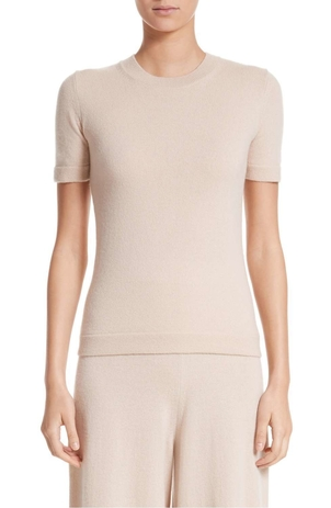 Rosetta Getty Crewneck T Shirt Sweater Fawn Tops