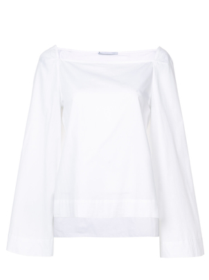 Rosetta Getty Square Neck Top White Tops