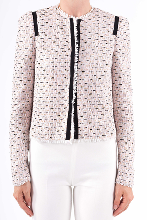 Giambattista Valli Raw Edge Tweed Jacket Outerwear