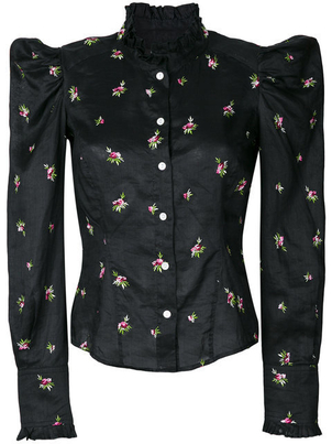 Isabel Marant Floral Embroidered Shirt (Originally $625) Sale Tops