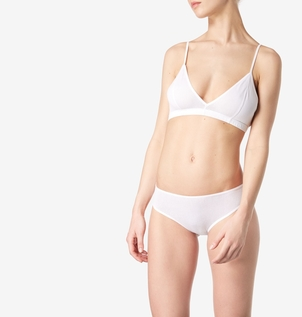 Sunspel Cellular Bralette in White Lingerie