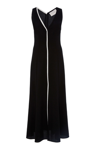 Carolina Herrera V-Neck Slit Dress Dresses