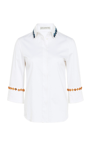 Mary Katrantzou Rita Embellished Shirt Tops