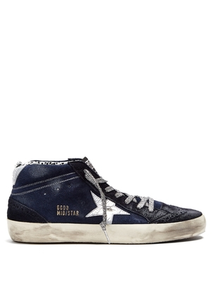 Golden Goose Deluxe Brand Mid Star Navy Star Sneaker Shoes